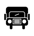 bus glyph black icon vector image vector image