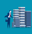 business man owner of skyscraper buildings vector image vector image