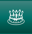 cake with candle icon simple flat pictogram for vector image