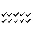 check mark set icons collection vector image vector image