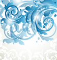 Christmas card or invitation with abstract floral vector image vector image