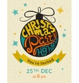 Christmas party ho ho ho invitation template vector image