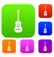 classical guitar set collection vector image vector image