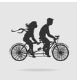 Couple on Tandem Bicycle vector image vector image