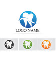dental care logo and symbols template icons app vector image vector image