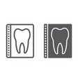 dental x-ray line and glyph icon stomatology vector image