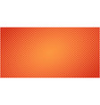 dotted halftone red orange background or pop art vector image vector image