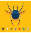 Flat design spider vector image