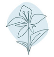 floral decor blooming flower in line art vector image vector image