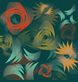 floral pattern with abstract shapes on a vector image