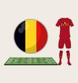 football belgium sport wear vector image