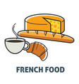 french food france cuisine breakfast dairy and vector image