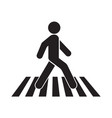 human walk crosswalk icon vector image vector image