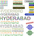 Hyderabad text design set vector image vector image