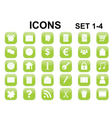 icons with rounded corners vector image