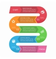 infographics in form a curved line vector image