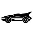isolated old racing car icon vector image vector image