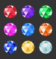 jewels set gem stock vector image vector image