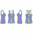 ladies printed sport tank top template vector image vector image