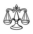 libra zodiac sign black horoscope symbol vector image
