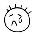 line emoticons icon with closed eyes and a vector image vector image