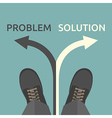 Man problem and solution vector image vector image