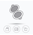 Microwave oven toaster and juicer icons vector image