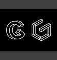 modern professional logo monogram g in geometric vector image vector image