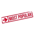 Most popular stamp vector image vector image