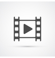 Movie film play icon vector image