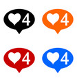 new four like icons set vector image vector image