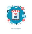 online shopping flat illiustration vector image vector image