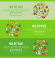 organic food concept with thin line icons vector image vector image