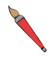 paint brush isolated vector image vector image
