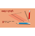 pencils and graph vector image vector image