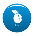 plum icon blue vector image vector image