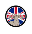 red deer union jack flag icon vector image vector image
