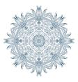 Round Mandala Monochrome 2 vector image vector image