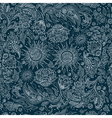 Seamless Ethnic Tribal Pattern with Flowers vector image