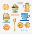 set menu items vector image