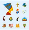 set of flat design egypt travel icons vector image