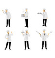 set of six chefs vector image vector image