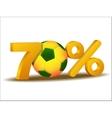 seventy percent discount icon vector image vector image