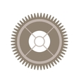 silhouette gear wheel with pinion vector image vector image