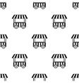Snack cart icon in black style isolated on white vector image vector image