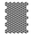 Star block pattern vector image vector image