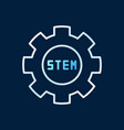 stem gear colored outline concept icon or vector image