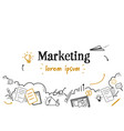 successful marketing strategy concept sketch vector image