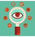 surveillance concept vector image vector image