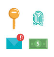 theft identity set icons vector image